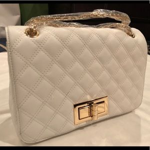 Handbags - Quilted white handbag